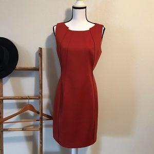 Tahari Burnt Orange Dress